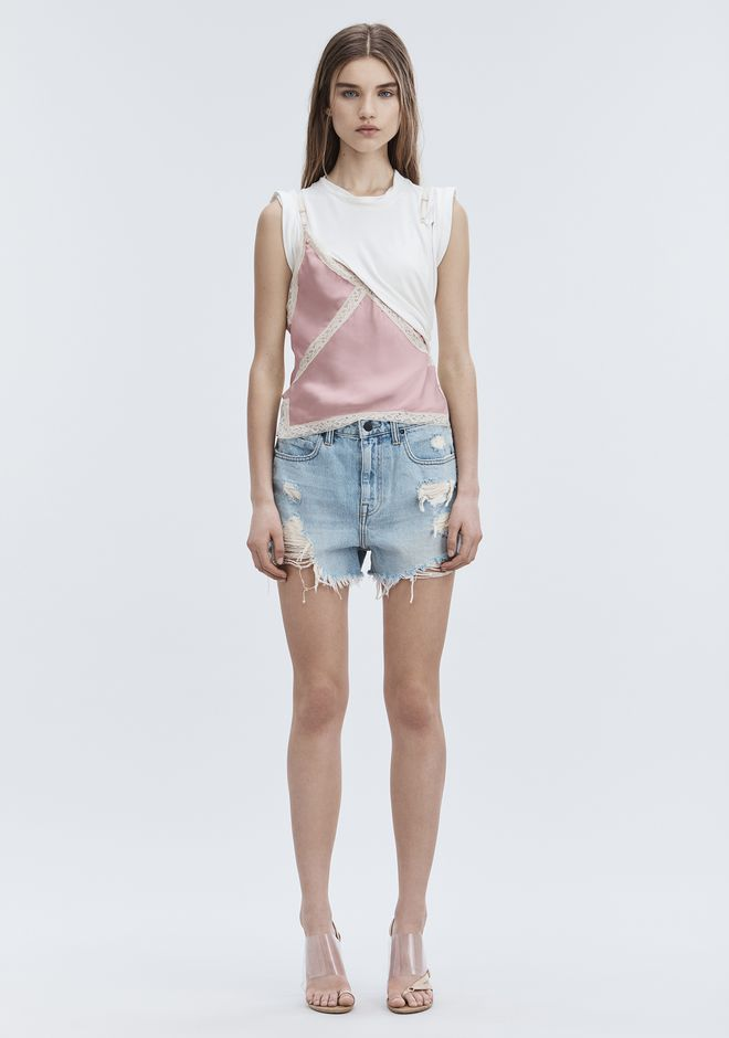 ALEXANDER WANG ROMP OVERSIZED SHORTS DENIM Adult 12_n_f