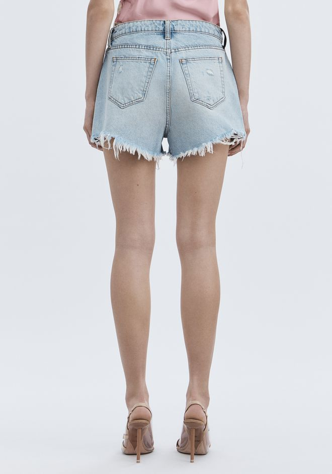 ALEXANDER WANG ROMP OVERSIZED SHORTS DENIM Adult 12_n_r