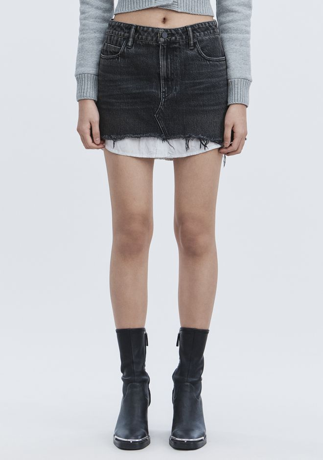 ALEXANDER WANG HI RISE DENIM MINI SKIRT DENIM Adult 12_n_a