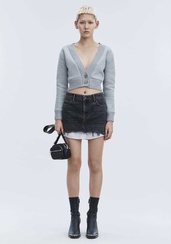 ALEXANDER WANG HI RISE DENIM MINI SKIRT DENIM Adult 12_n_f