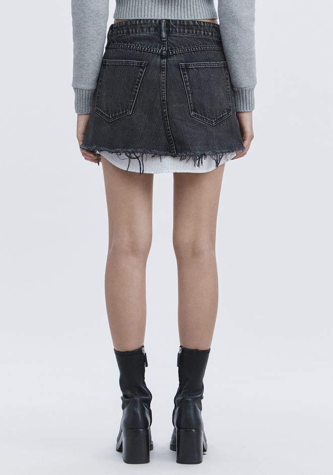 ALEXANDER WANG HI RISE DENIM MINI SKIRT DENIM Adult 12_n_r