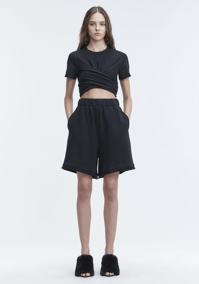 T by ALEXANDER WANG FLEECE GYM SHORTS 短裤 Adult 12_n_f