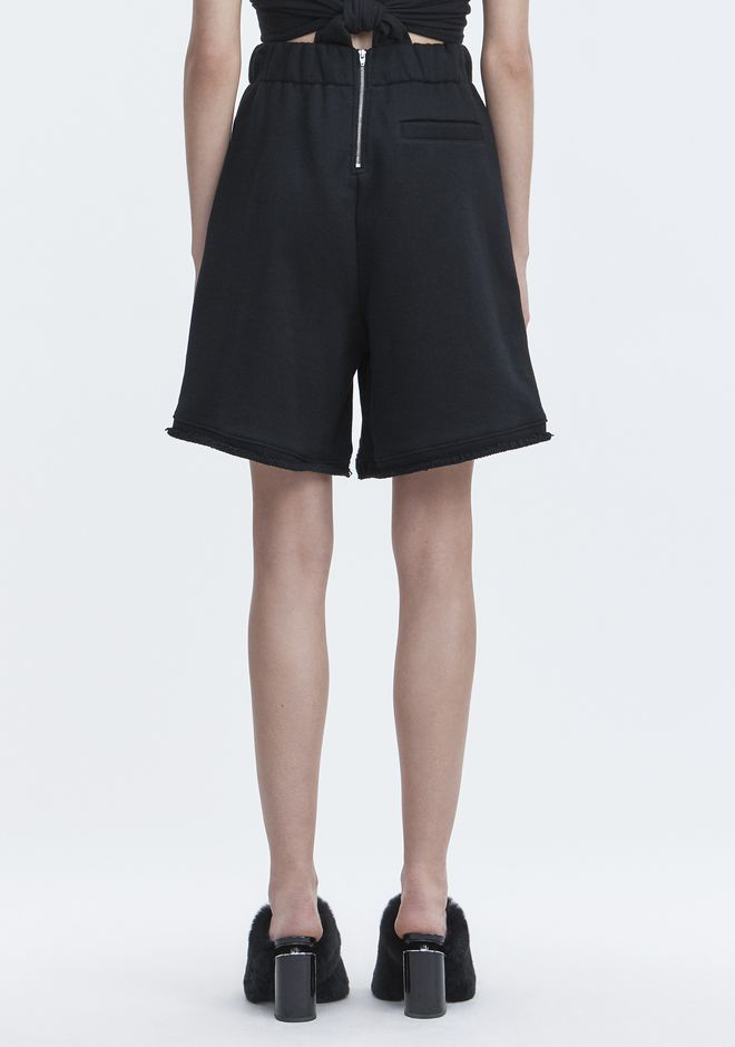 T by ALEXANDER WANG FLEECE GYM SHORTS SHORTS Adult 12_n_r
