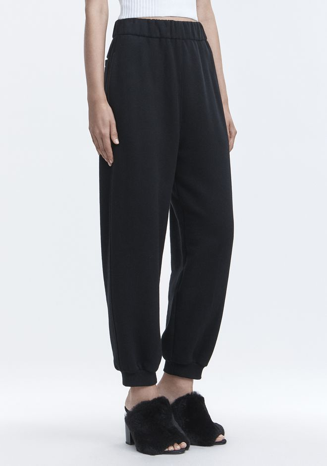 T by ALEXANDER WANG PANTALONS FLEECE HIGH-WAISTED SWEATPANTS