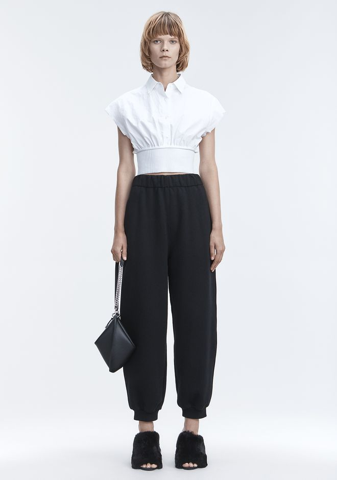 T by ALEXANDER WANG neuheiten FLEECE HIGH-WAISTED SWEATPANTS