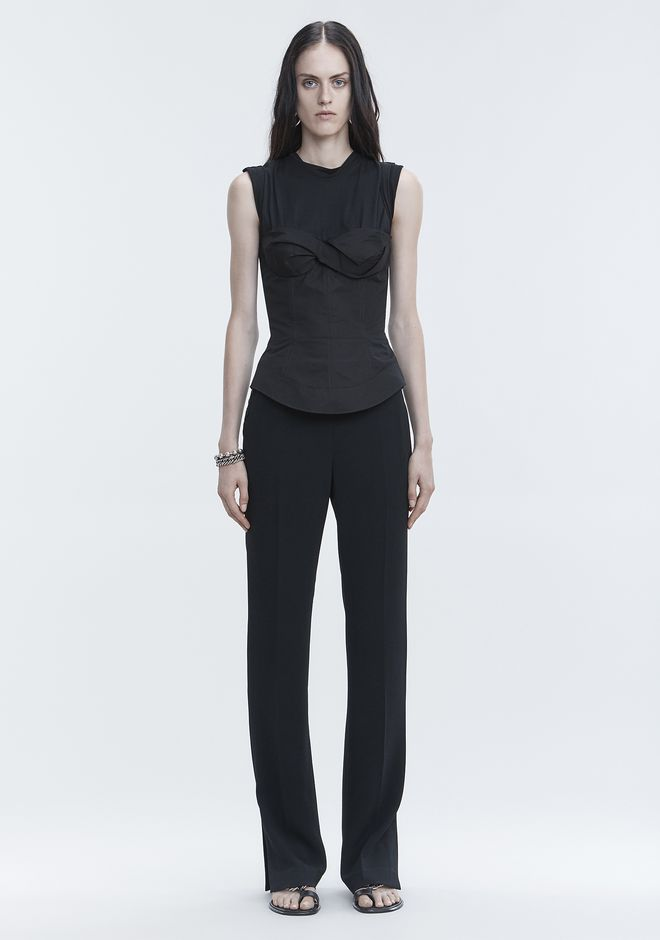 ALEXANDER WANG PANTS TROUSERS WITH SIDE SNAP CLOSURE