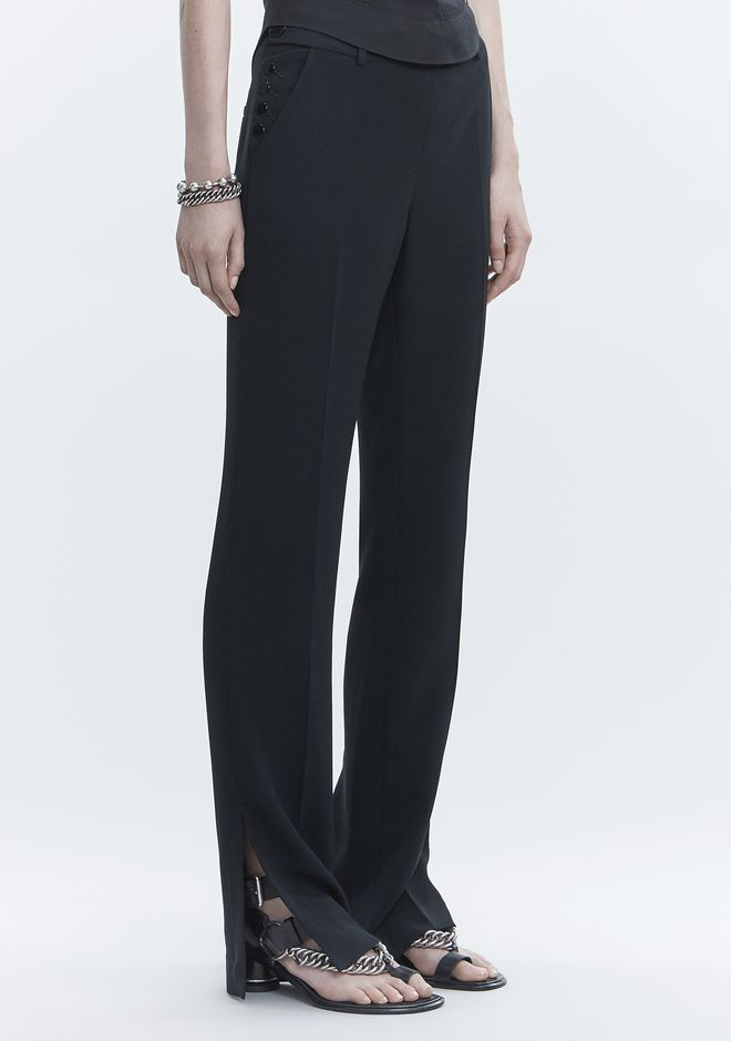 ALEXANDER WANG TROUSERS WITH SIDE SNAP CLOSURE PANTS Adult 12_n_e
