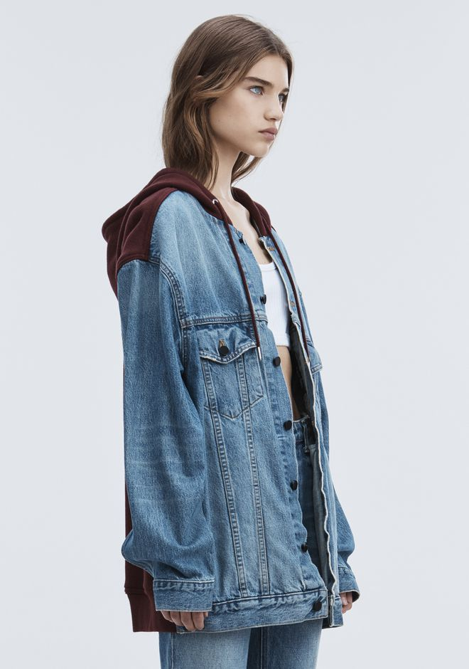 ALEXANDER WANG DAZE MIX OVERSIZED DENIM JACKET DENIM Adult 12_n_d