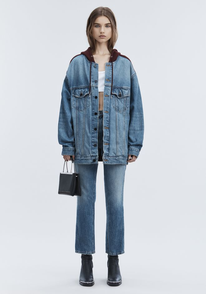ALEXANDER WANG DAZE MIX OVERSIZED DENIM JACKET DENIM Adult 12_n_f