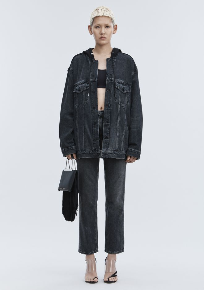 ALEXANDER WANG DENIM DAZE MIX OVERSIZED DENIM JACKET