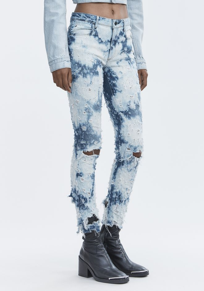 ALEXANDER WANG WHIPLASH DESTROYED JEANS DENIM Adult 12_n_e