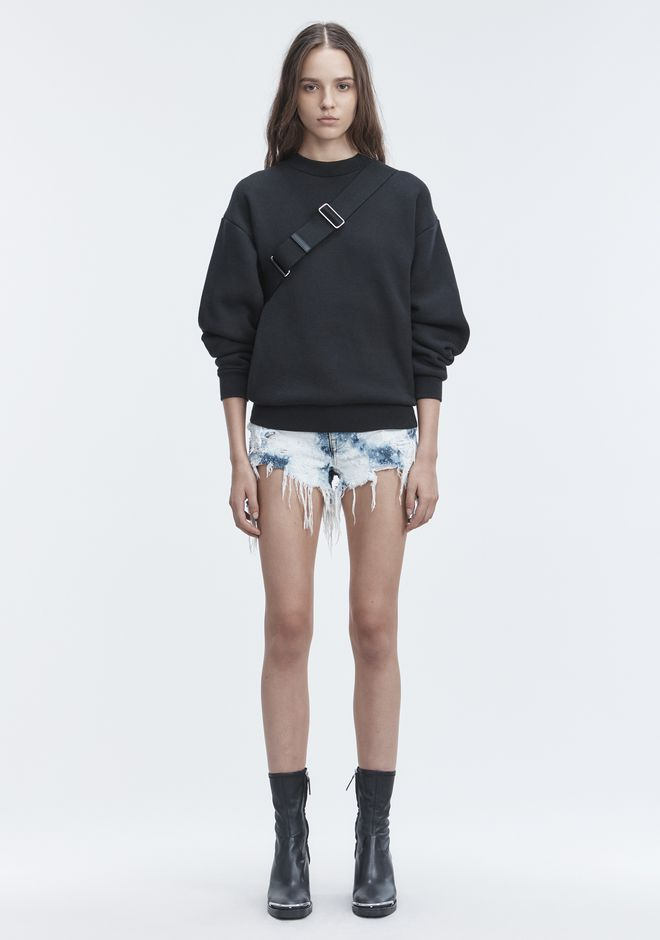 ALEXANDER WANG denim-x-aw ROMP SHORTS