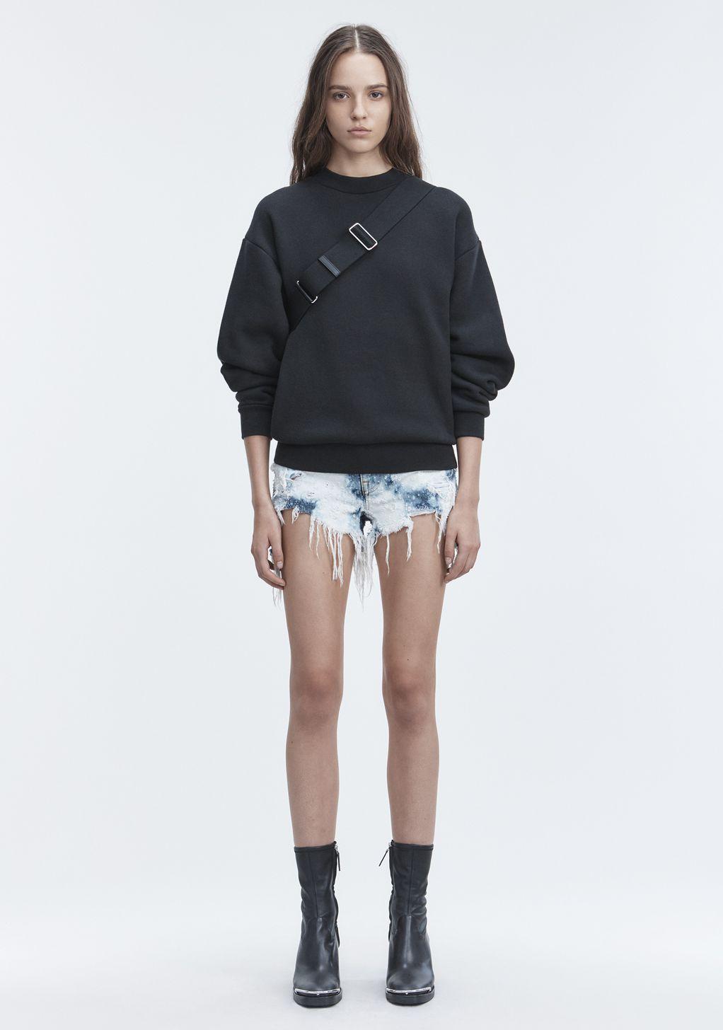 Alexander Wang Romp Shorts Denim Official Site