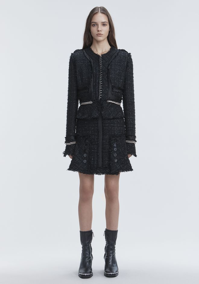 ALEXANDER WANG slrtwbtm DECONSTRUCTED TWEED SKIRT