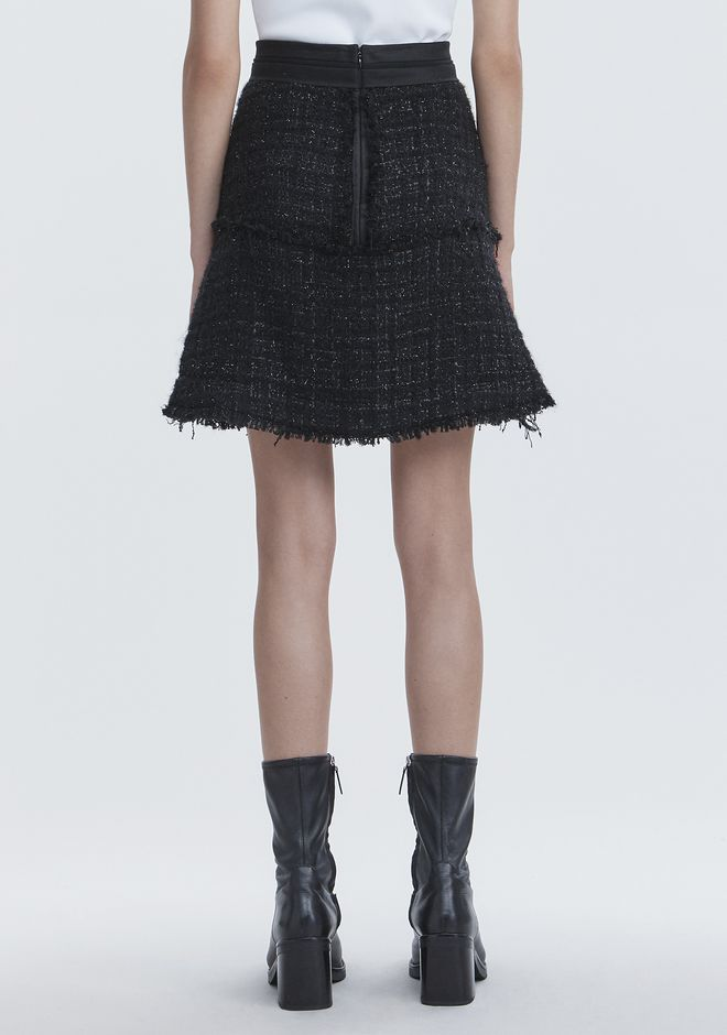 ALEXANDER WANG DECONSTRUCTED TWEED SKIRT SKIRT Adult 12_n_a