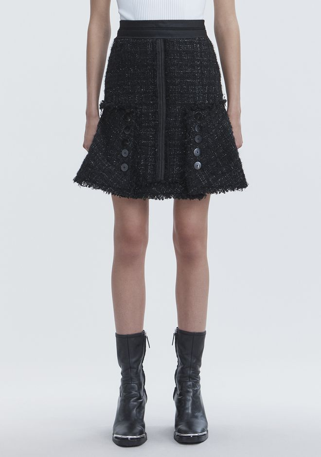 ALEXANDER WANG DECONSTRUCTED TWEED SKIRT SKIRT Adult 12_n_d