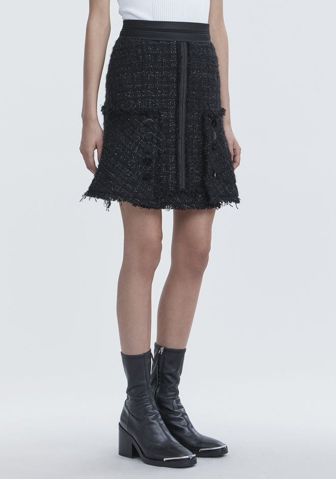 ALEXANDER WANG DECONSTRUCTED TWEED SKIRT SKIRT Adult 12_n_e