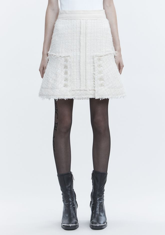 ALEXANDER WANG DECONSTRUCTED TWEED SKIRT 半裙 Adult 12_n_d