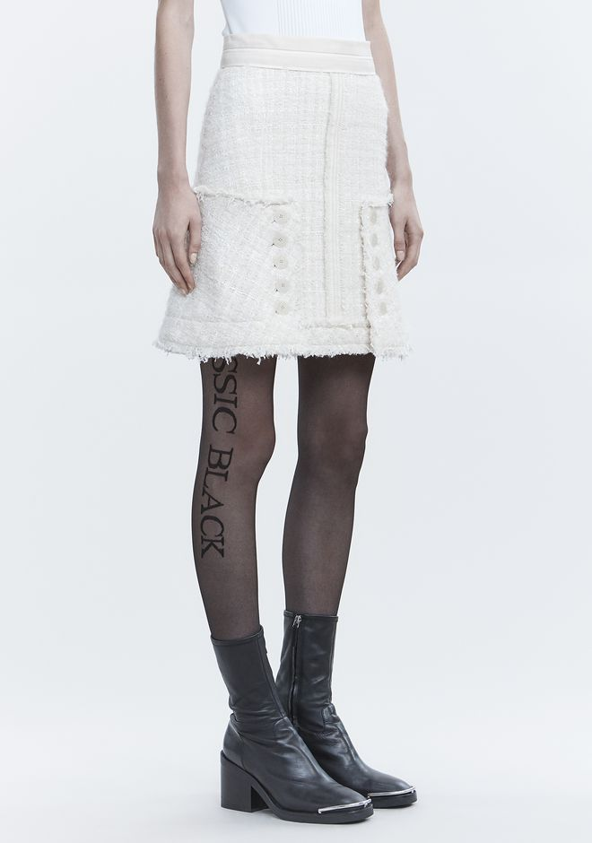 ALEXANDER WANG DECONSTRUCTED TWEED SKIRT 半裙 Adult 12_n_e