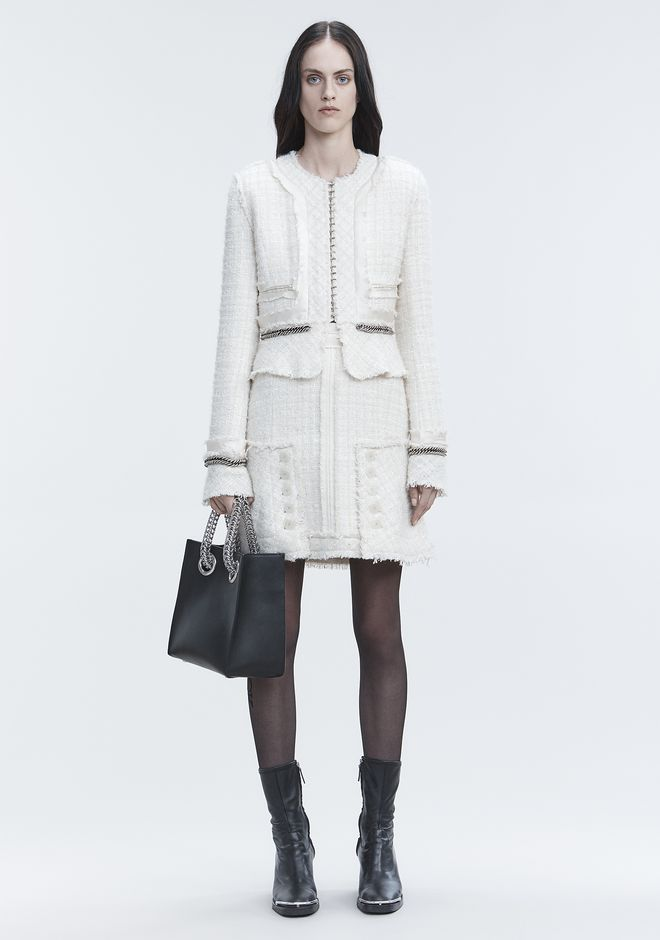 ALEXANDER WANG DECONSTRUCTED TWEED SKIRT 半裙 Adult 12_n_f