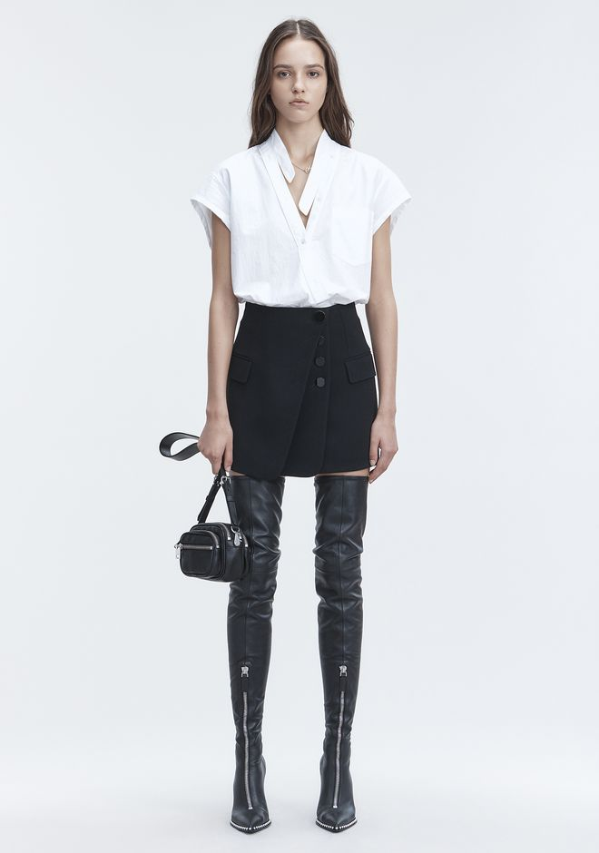 ALEXANDER WANG SKIRTS Women MINI SKIRT WITH MULTI BUTTON DETAIL