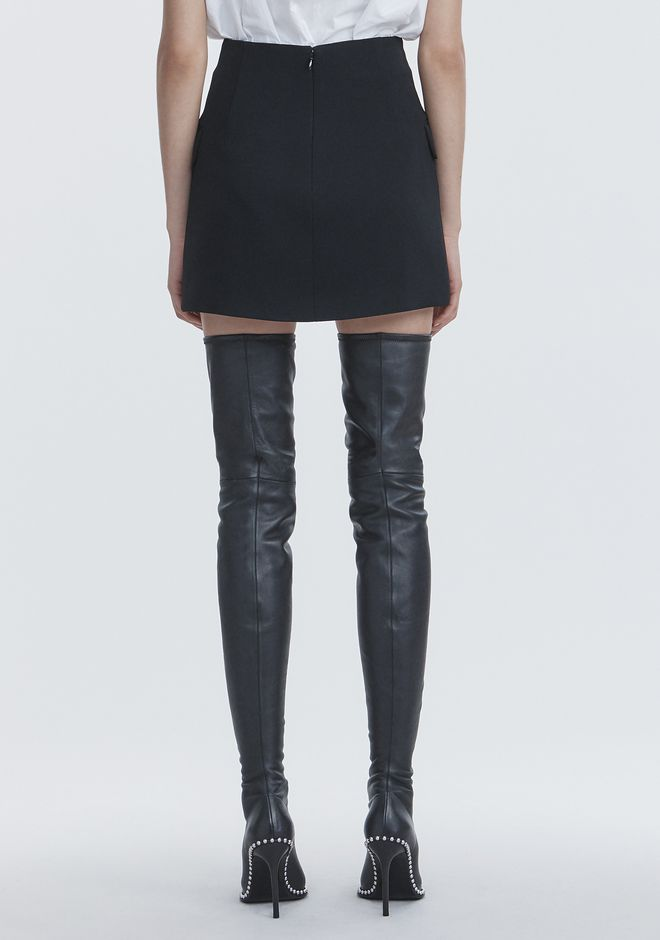 ALEXANDER WANG MINI SKIRT WITH MULTI BUTTON DETAIL SKIRT Adult 12_n_a