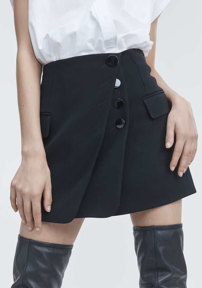 ALEXANDER WANG MINI SKIRT WITH MULTI BUTTON DETAIL SKIRT Adult 12_n_r