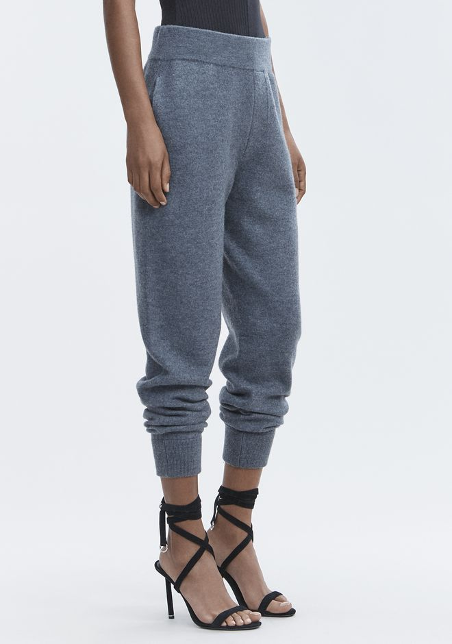 T by ALEXANDER WANG PANTALONS BOILED WOOL SWEATPANTS