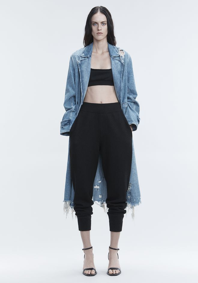 T by ALEXANDER WANG sltbbtm BOILED WOOL SWEATPANTS