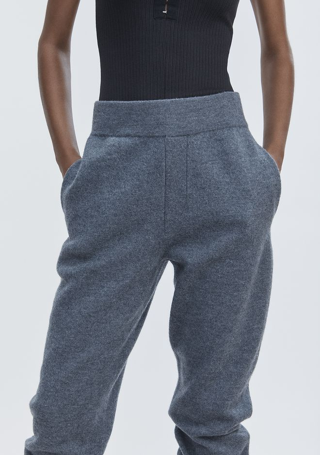 T by ALEXANDER WANG BOILED WOOL SWEATPANTS PANTS Adult 12_n_a