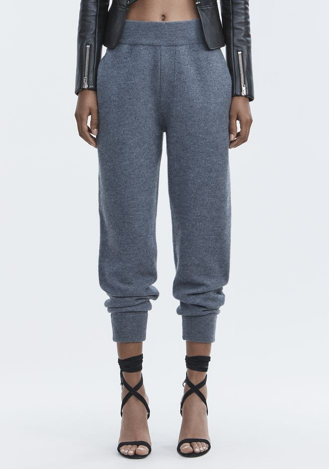 T by ALEXANDER WANG BOILED WOOL SWEATPANTS PANTS Adult 12_n_d