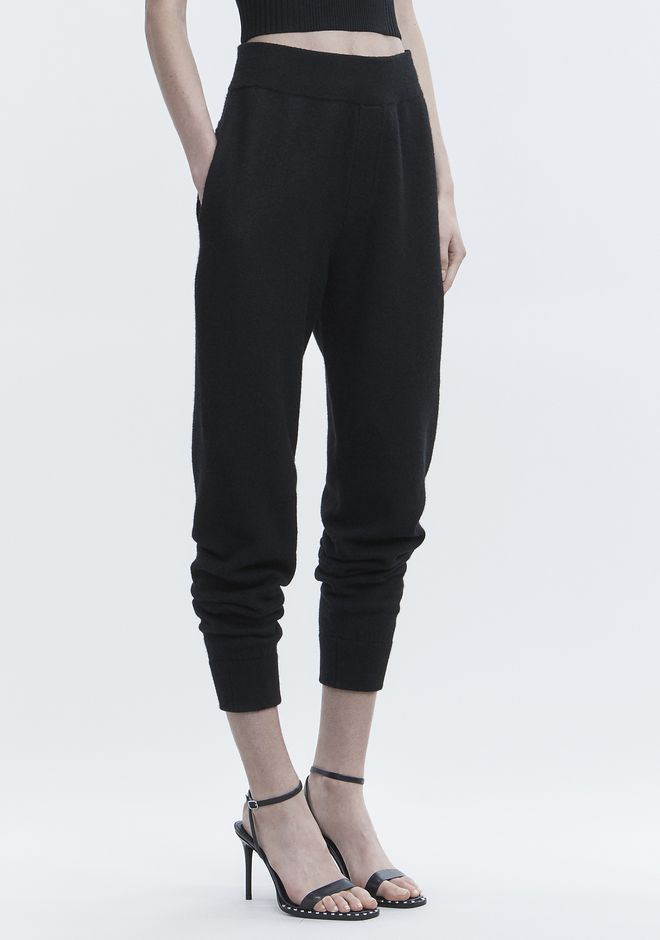 T by ALEXANDER WANG BOILED WOOL SWEATPANTS PANTS Adult 12_n_e