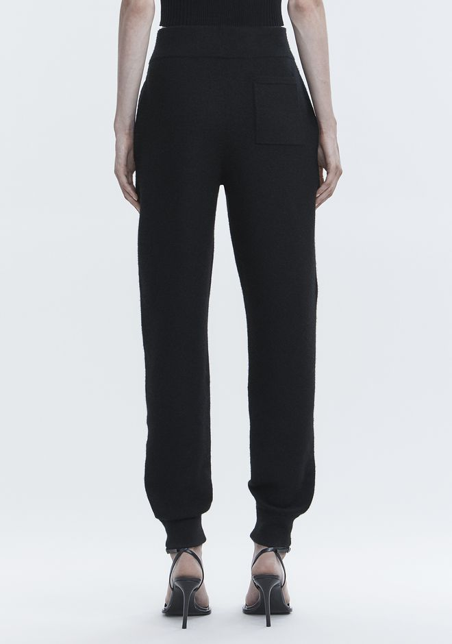T by ALEXANDER WANG BOILED WOOL SWEATPANTS PANTS Adult 12_n_r