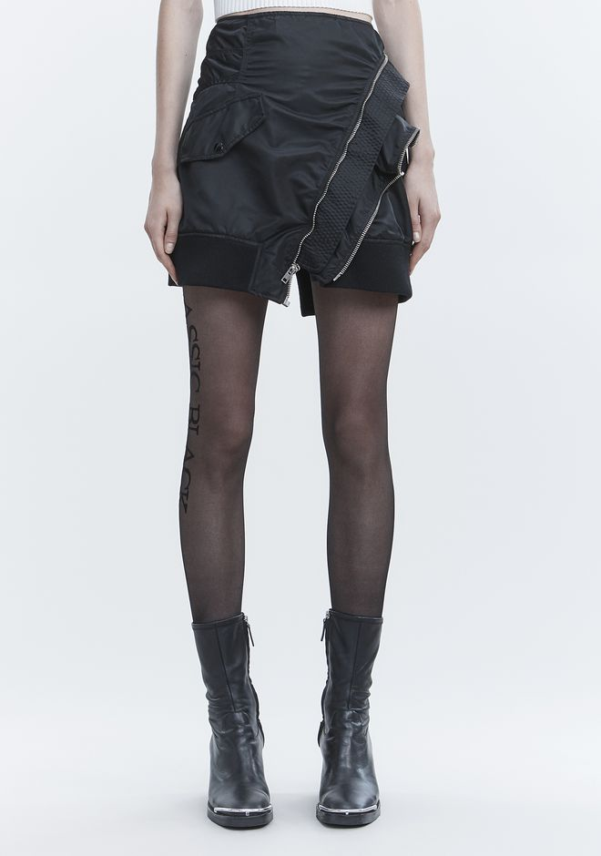 ALEXANDER WANG DECONSTRUCTED BOMBER SKIRT SKIRT Adult 12_n_d