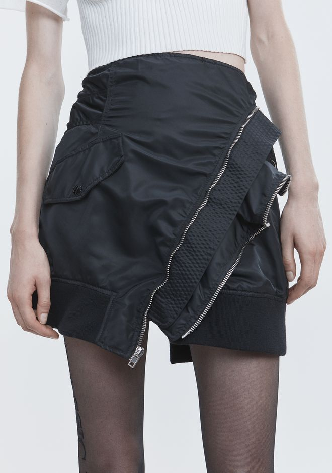 ALEXANDER WANG DECONSTRUCTED BOMBER SKIRT SKIRT Adult 12_n_r