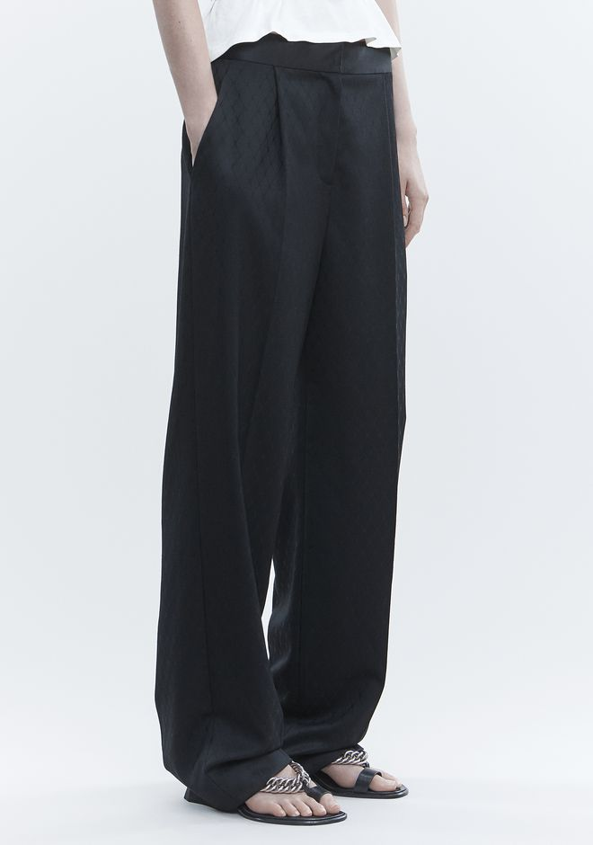 ALEXANDER WANG SINGLE PLEAT PANT PANTS Adult 12_n_e