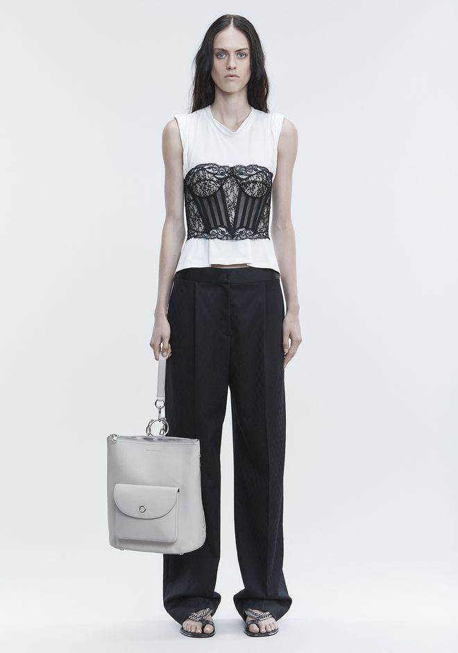 ALEXANDER WANG SINGLE PLEAT PANT PANTS Adult 12_n_f
