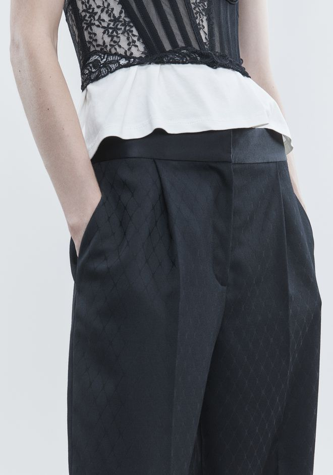 ALEXANDER WANG SINGLE PLEAT PANT PANTS Adult 12_n_r