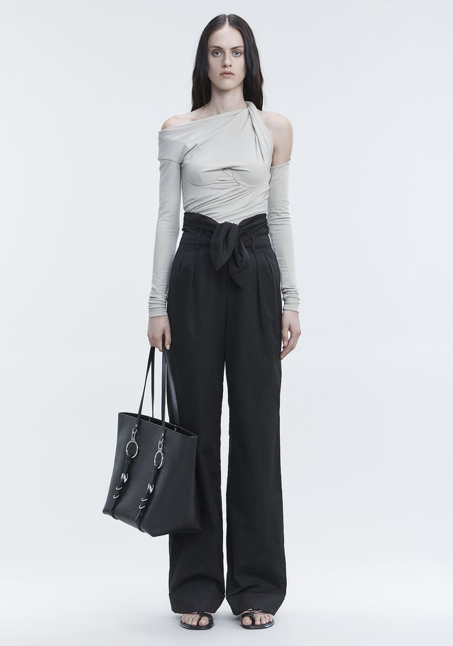 ALEXANDER WANG PANTS Women POPLIN PLEAT FRONT PANT