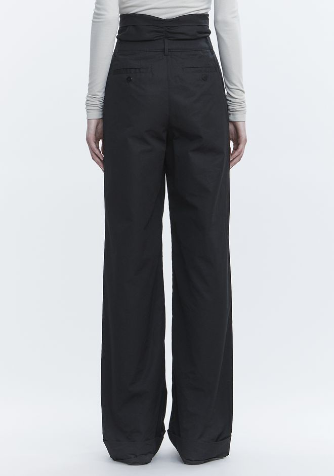 ALEXANDER WANG POPLIN PLEAT FRONT PANT PANTS Adult 12_n_a