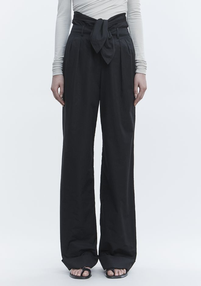 ALEXANDER WANG POPLIN PLEAT FRONT PANT PANTS Adult 12_n_d