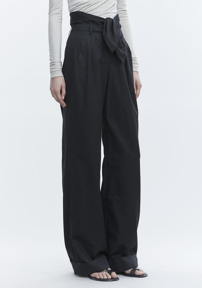 ALEXANDER WANG POPLIN PLEAT FRONT PANT PANTS Adult 12_n_e