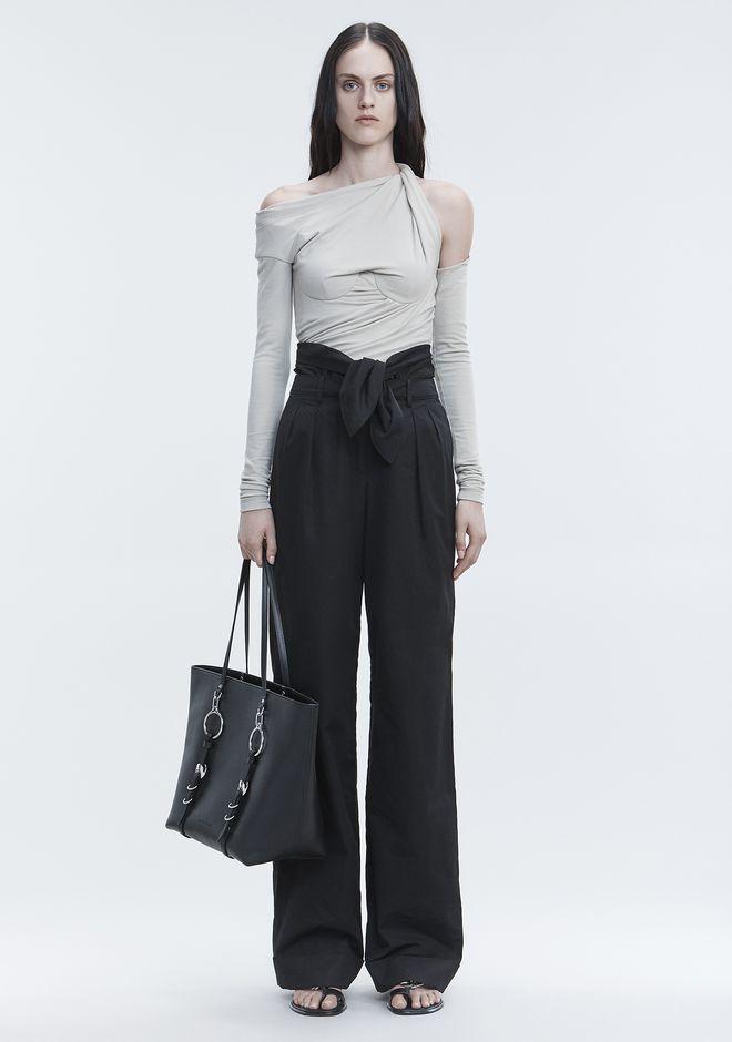 ALEXANDER WANG POPLIN PLEAT FRONT PANT 裤装 Adult 12_n_f