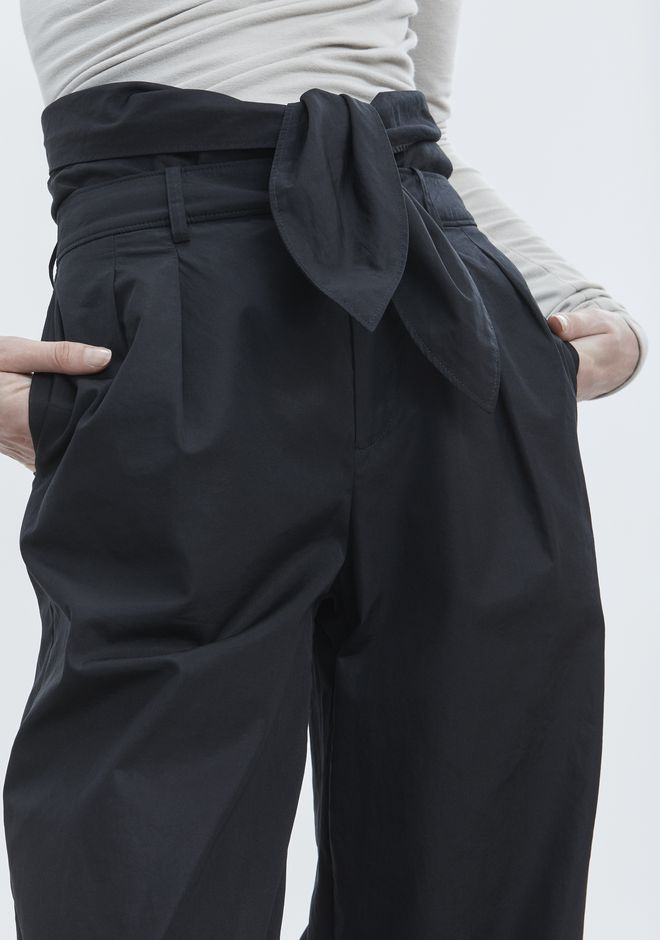 ALEXANDER WANG POPLIN PLEAT FRONT PANT PANTS Adult 12_n_r