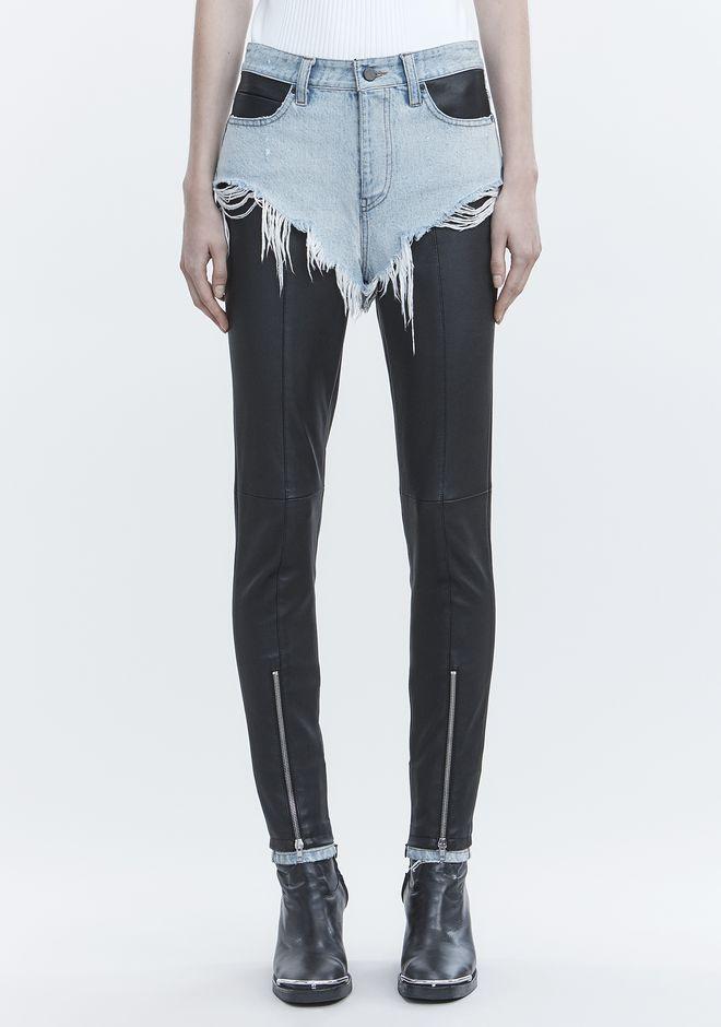 ALEXANDER WANG HYBRID MOTO PANTS PANTS Adult 12_n_d