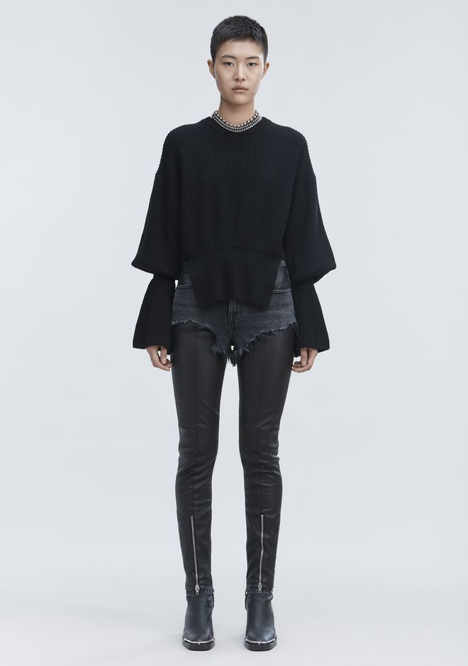 ALEXANDER WANG new-arrivals-ready-to-wear-woman HYBRID MOTO PANTS