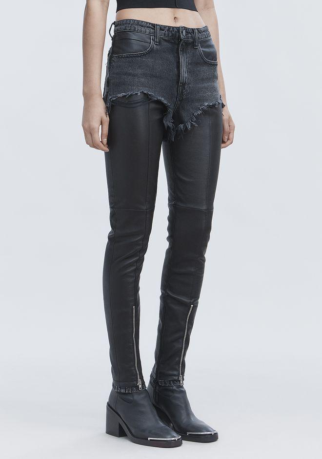 ALEXANDER WANG HYBRID MOTO PANTS PANTS Adult 12_n_e
