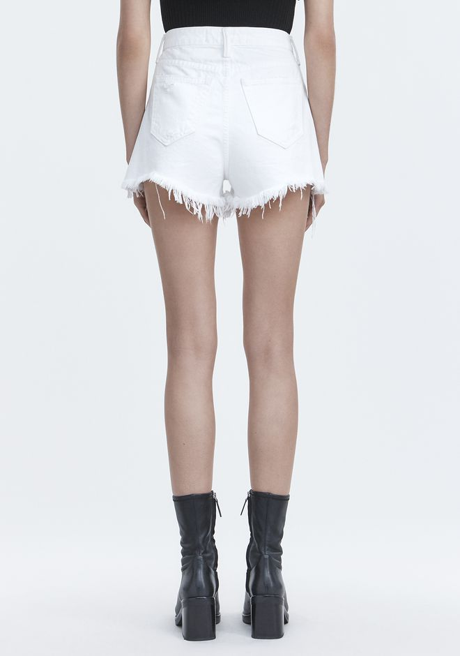 ALEXANDER WANG BITE WHITE DESTROYED DENIM Adult 12_n_d