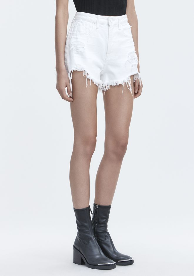 ALEXANDER WANG BITE WHITE DESTROYED DENIM Adult 12_n_e