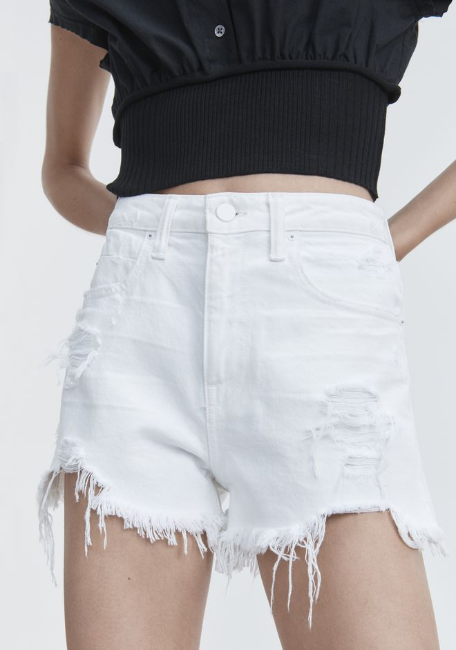ALEXANDER WANG BITE WHITE DESTROYED DENIM Adult 12_n_r